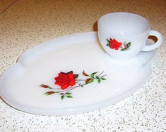 Vintage Federal Glass Dishes Tea Cups Vintage Dinnerware