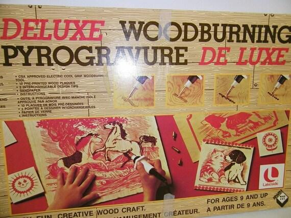 vintage deluxe woodburning wood craft kit. Black Bedroom Furniture Sets. Home Design Ideas