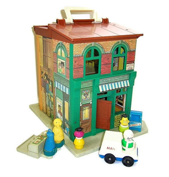Vintage Fisher Price Sesame Street Apartment Vintage Fisher Price Playset