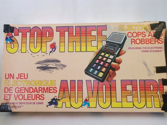 Vintage Stop the Thief Electronic Board Game 1979 Vintage Family Board Game
