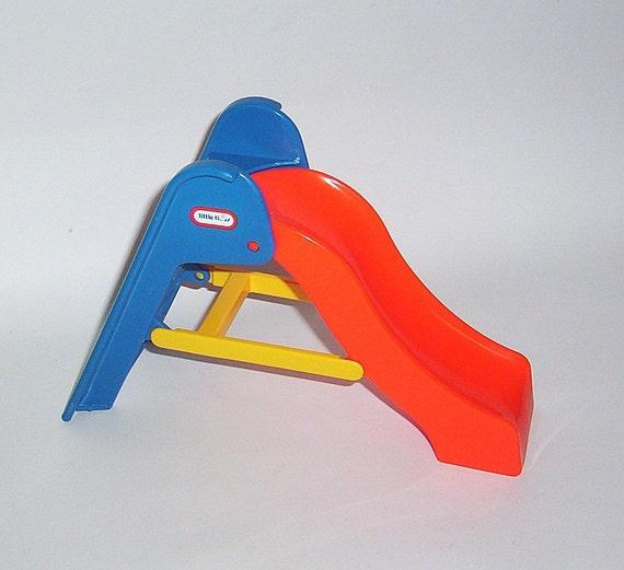 Little Tikes Orange Slides : Vintage little tikes dollhouse slide
