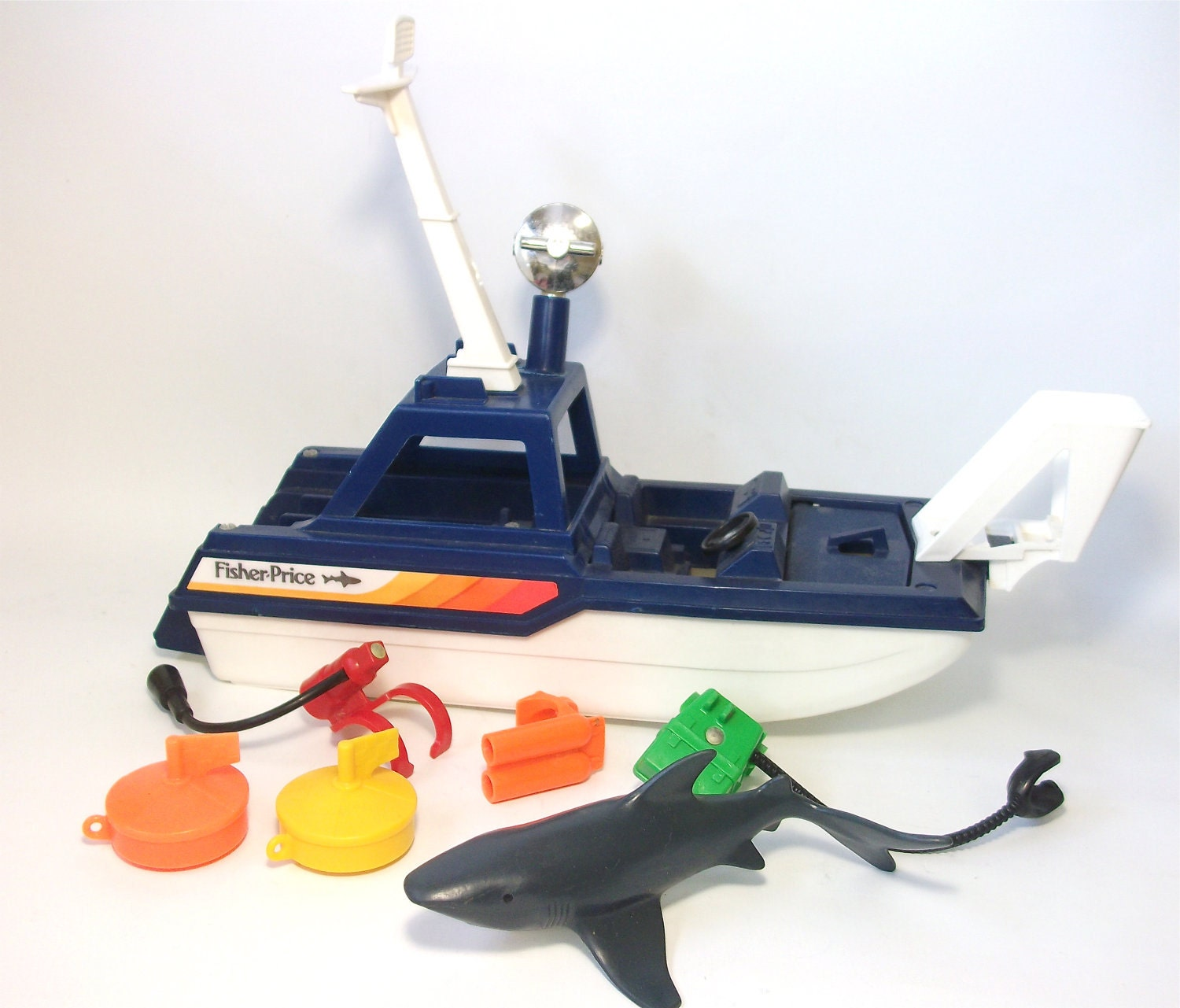 Shark Ship Toy : Vintage fisher price sea shark adventure series toy