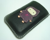 Taka ninja iphone Leather case ( Black and Purple )