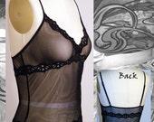 FINAL SALE Black Fishnet Camisole LAST ONE SZ SM