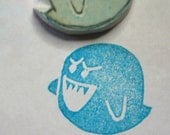 Boo - handcarved rubber stamp