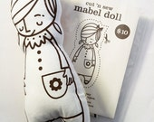 Make Your Own Mabel Doll Cut 'n Sew Kit