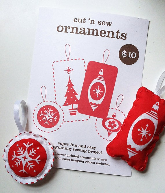 Cut 'n Sew Ornament Kit