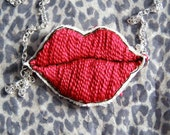 Red Lips Necklace