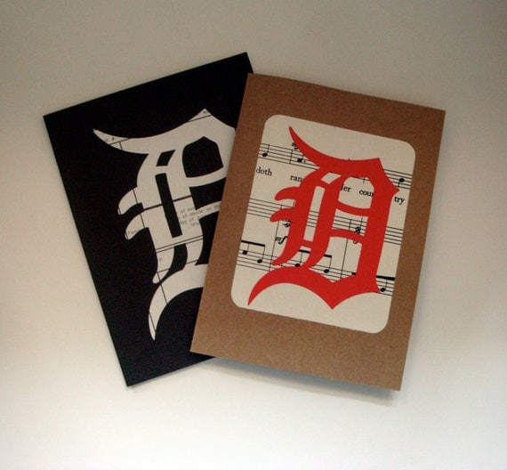 Detroit Greeting Cards / Set of Handmade and Recycled Detroit Cards