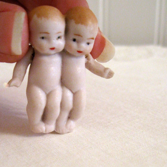 German Doll Antique Twin Bisque Babies