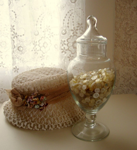Footed Glass Apothecary Jar