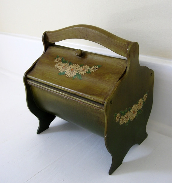 Beautiful Antique Painted Sewing Box