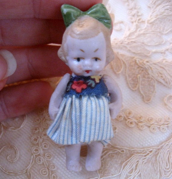 Tiny Antique Bisque Girl Doll Germany