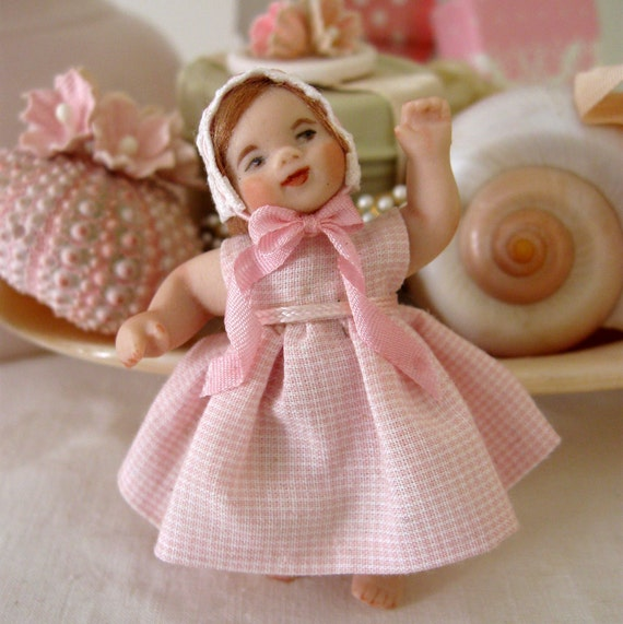 Tiny Girl Bisque Doll