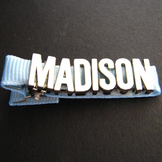 Personalized Name Clippie - 5, 6, 7 or 8 letters