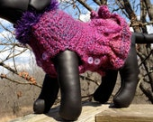 Immediate Download - PDF Crochet Pattern For Plumb Beautiful Dog Sweater - Button Sides