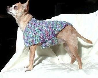 Immediate Download - PDF Crochet Pattern for Designer Dog Sweater