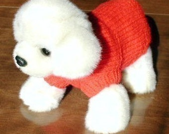 Immediate Download - PDF Knitting Pattern for the Basic Dog Sweater for Small Breed Dogs