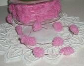 Pink Fuzzy Wired Pom Pom Trim