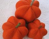 fabric pumpkin - orange spatter-print - medium - 18 inch round pUmPkIn