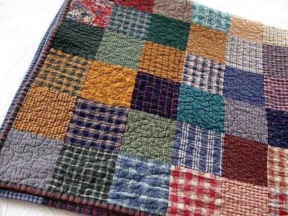 SALE....color range quilt...48 x 48...reversible