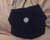 Small Black Suede Celtic Purse