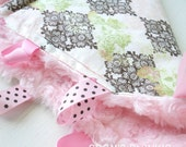 RARE - Hard to Find Fabric - The Knottie Sensory Ribbon Lovie - Pink Princess Butterfly - Minky and Ribbons - OR Design Your Own