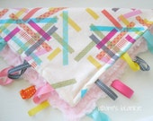 The Knottie Sensory Ribbon Lovie - Japanese Washi Tape with Minky and Ribbons - OR Design Your Own - 64 Fabrics
