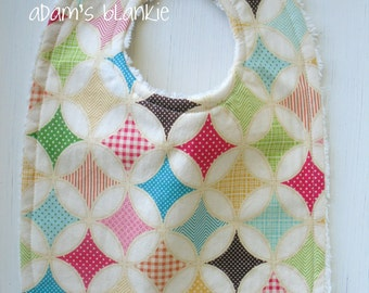 Fly A Kite - Infant to Toddler Bib - Chenille and Pearl Snap - OR Design Your Own - 64 Fabric Choices
