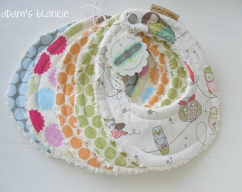 THE ORIGINAL Little Drooler Bibs - Any 5 - You Choose from 64 Fabrics