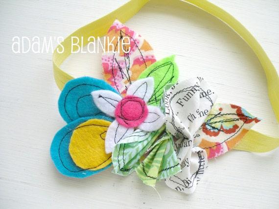 Stitch Art Couture Line - Punk Rock Soul - Punk Bouquet II Stretch Headband - Baby Infant Newborn Girls Adults