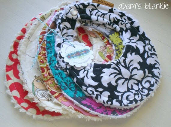 THE ORIGINAL Little Drooler Bibs - Any 5 - You Choose from 64 Fabrics - Pearl Snap
