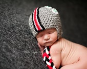 OHIO STATE Buckeyes Scarlet and Grey Helmet Hat - Size 1-3 years