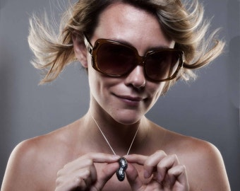 Silver Peanut Necklace