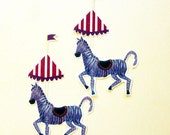 Circus Animals, Cool Stickers, Zebra, Lion, Elephant, Big Top Tent for Gift Giving, Scrapbooking, Party Decor - 8