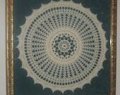 Framed Crochet Motif Doilie,Oracle Inspiration