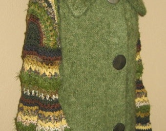 Weasley Sleeves Professor Pamona Sprout, Vintage Sweater Coat