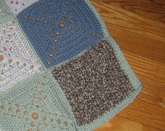 Patchwork Granny Square Baby/Lap Blanket