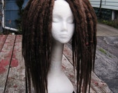 RESERVED for Karma And Forest: 35 Medium/Long DE Brown Natural Crochet Dreads Hair Falls
