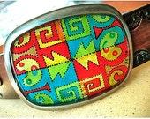 peru textile-inspired belt buckle - NAZCA