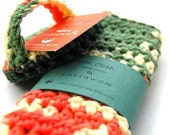 Dish Scrubbie and Dish Cloth set  - PEAS AND CARROTS