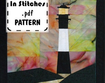 Tybee Lighthouse Paper Piecing PDF Pattern Tutorial Quilt Instructions