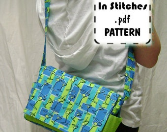 Cross Body Purse PDF Sewing Pattern - Medium Sheila Shoulder Bag EASY Instructions Tutorial