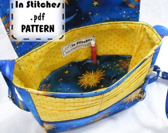 PDF Journey Purse Pattern EASY instructions DIY Medium Cross Body Bag Tutorial