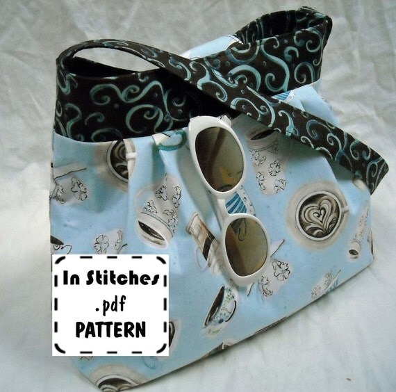 Jamie PDF Purse Pattern-Hobo Shoulder Bag-EASY Sewing Instructions Tutorial