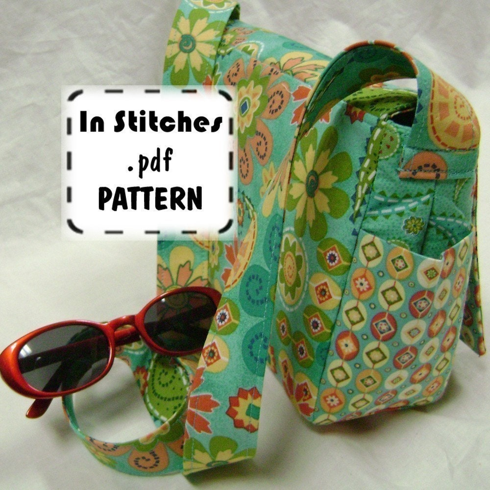 Cross Body Purse PDF Sewing Pattern Small Joey by sidquilts