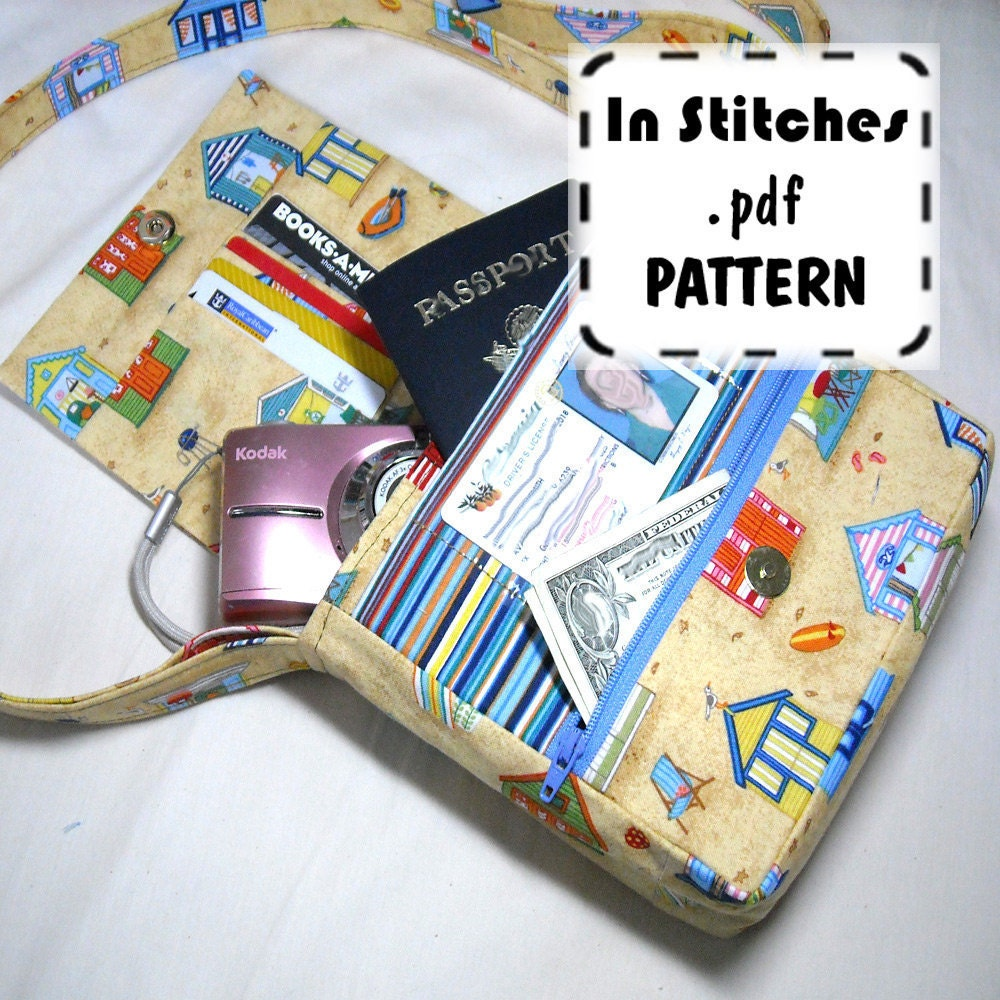 Pocketbook Patterns : PDF Purse Pattern Small Adventure Bag EASY instructions DIY Etsy