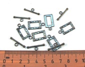 Gunmetal Metal 22mm x 12mm Toggle Clasps, Set of 6, 1031-24