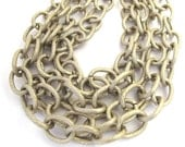 Antiqued Silver Finished Aluminum Chain, Sold per 24 inches, chain 085