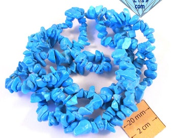 Blue Howlite Chips Beads, Sold per 34 inches Strand, 1064-07